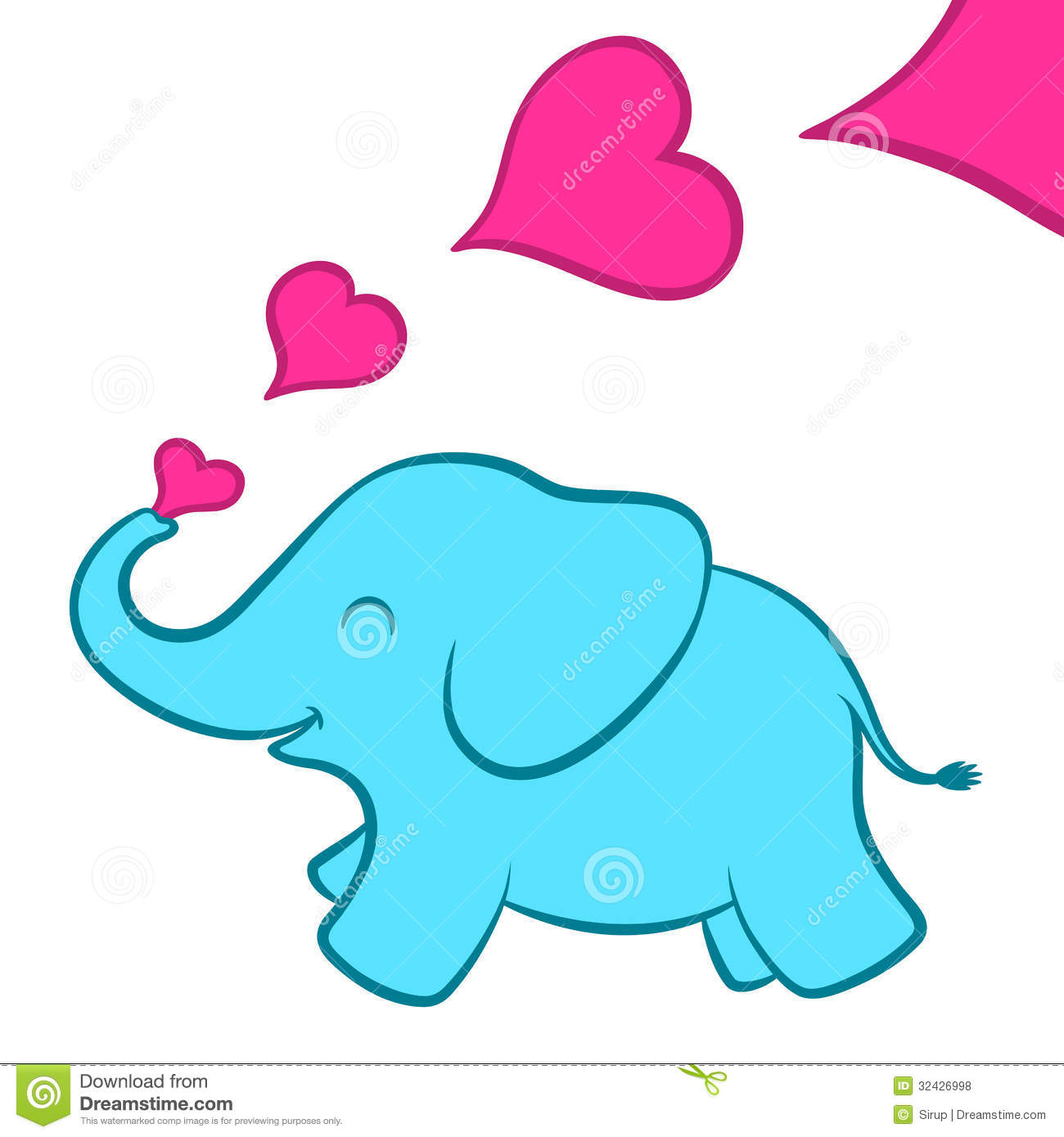 Free Download Baby Calf Clipart Baby Elephant Calf Pink Hearts