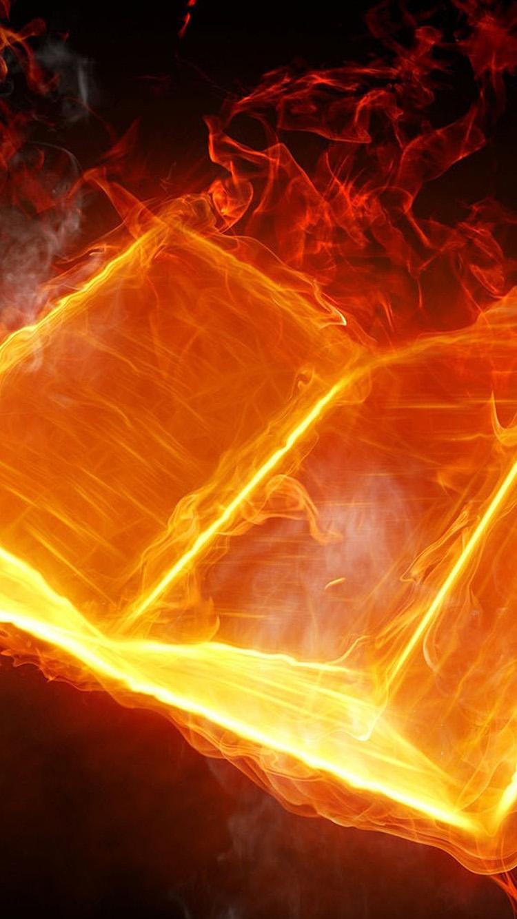 3D Fire Book iPhone 6 Wallpaper HD iPhone 6 Wallpaper 750x1334