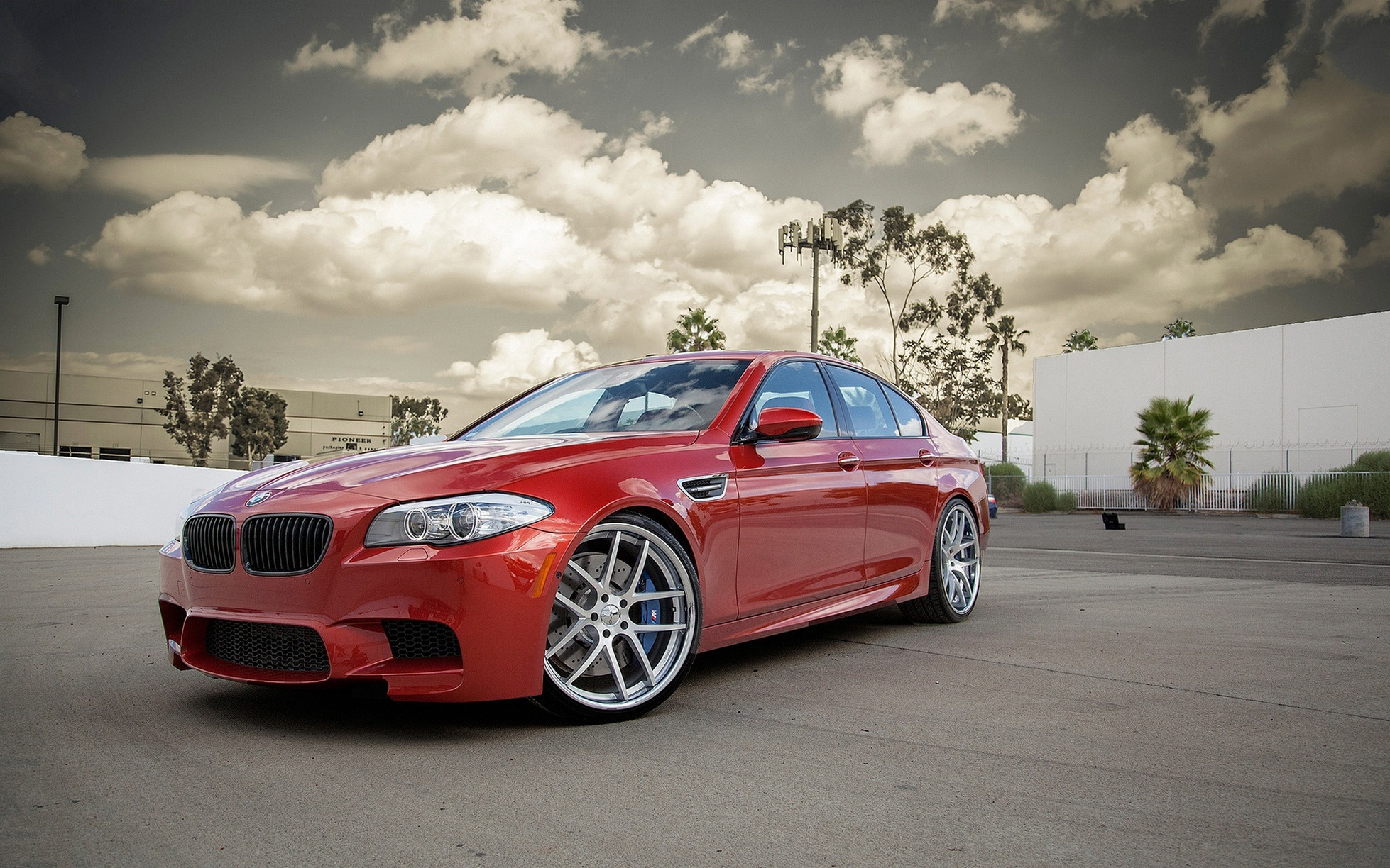 Red BMW M5 F10 HD Wallpapers Download HD Wallpapers 1958x1224