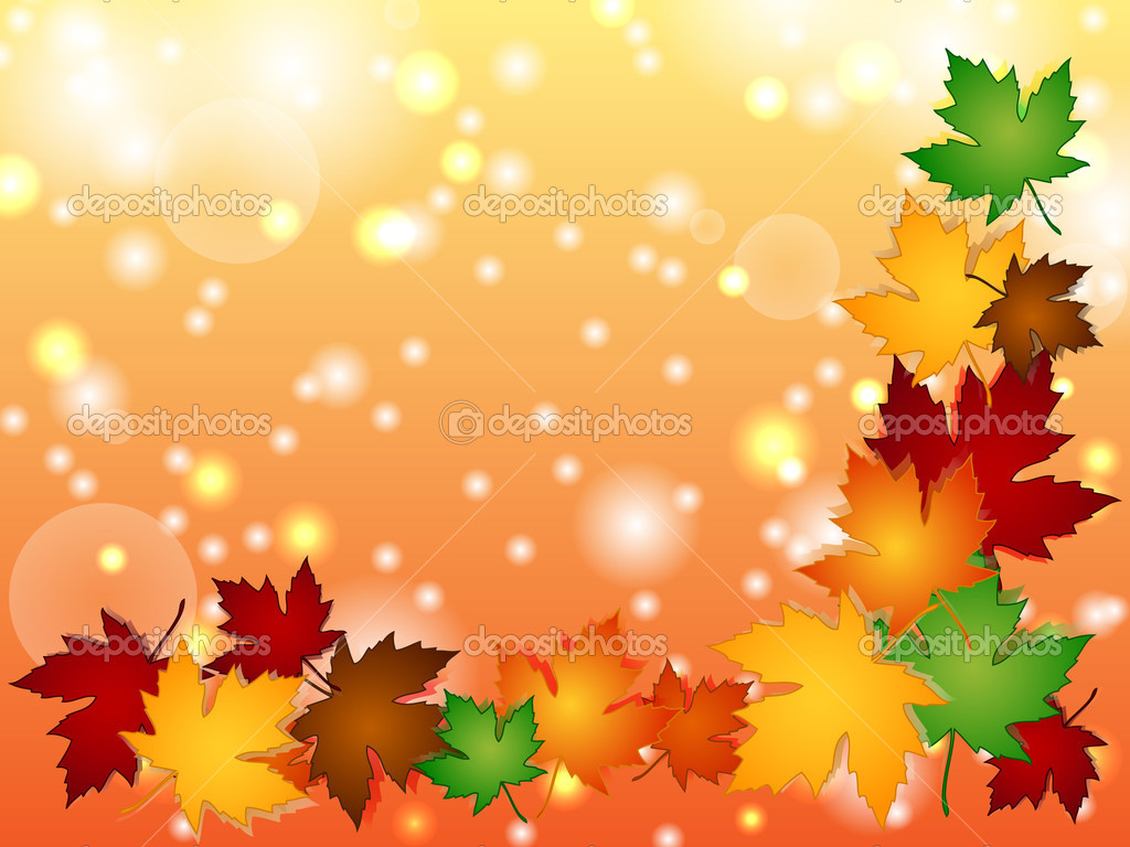 Photo Autumn Fall Leaves Border Stock Image Images Royalty 1024x768