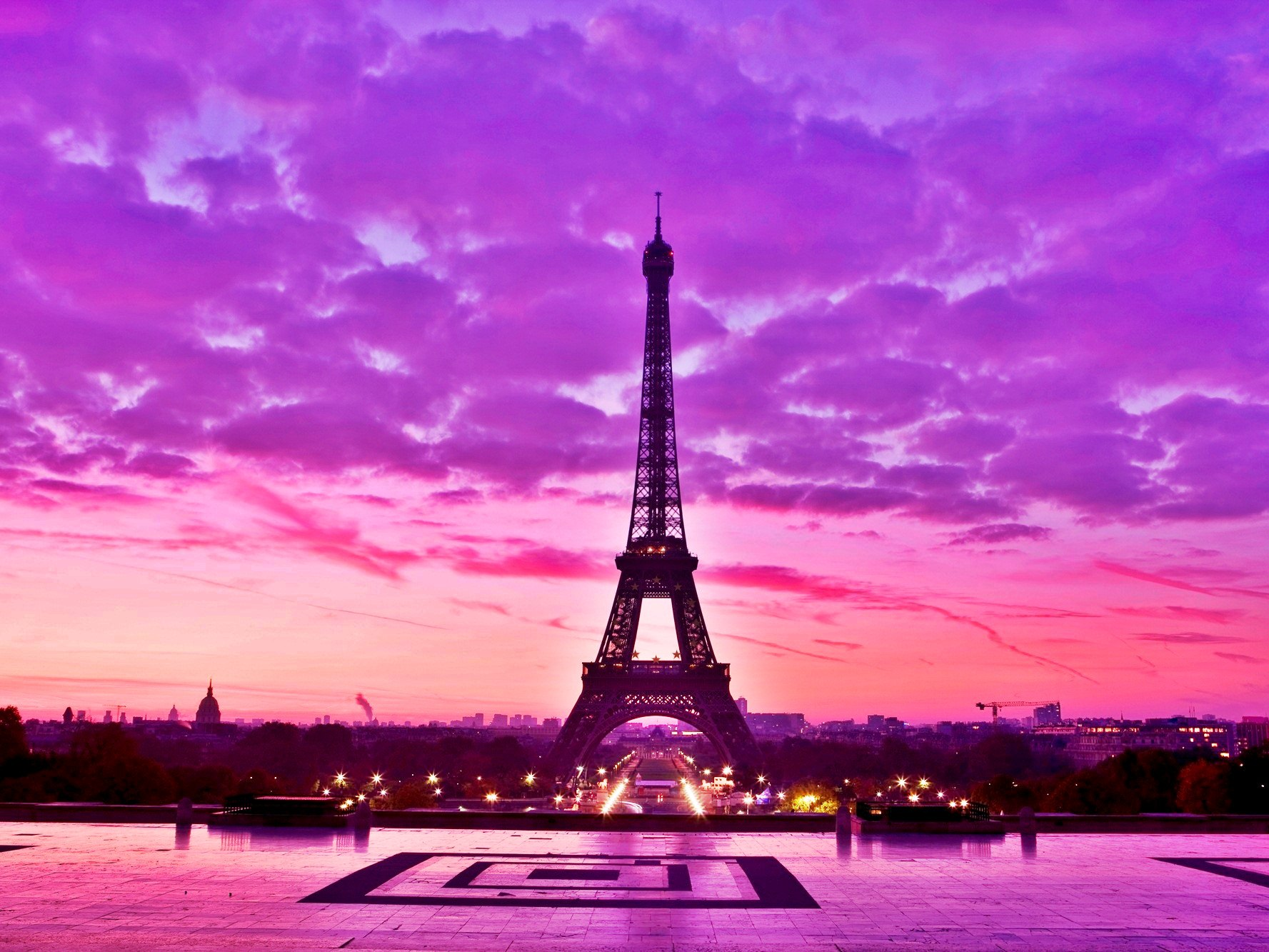 Pink Paris Wallpaper Wallpapersafari