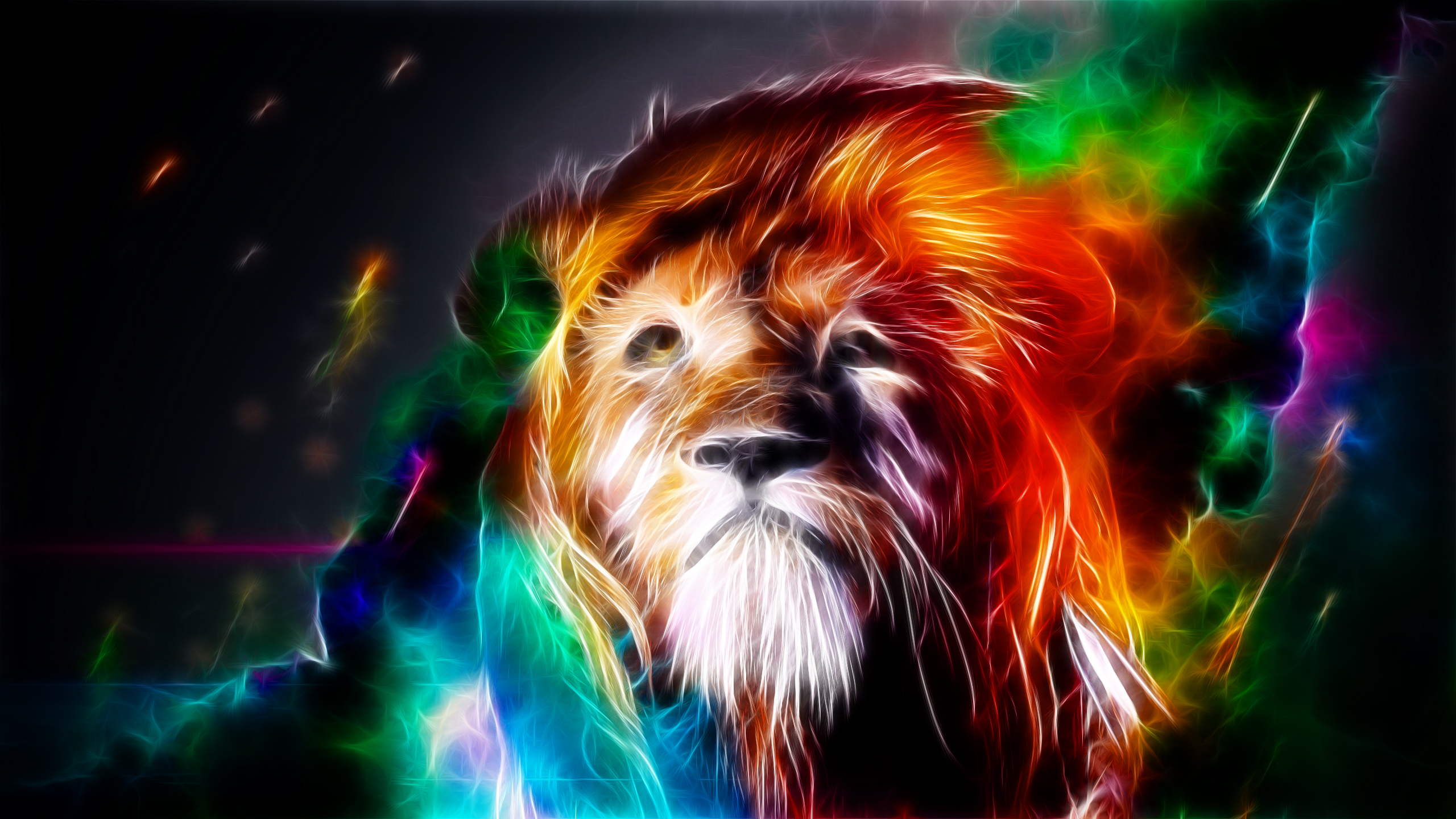 10 Latest Cool Wallpapers Of Animals Full Hd 1080p For Pc: Trippy Lion Wallpaper