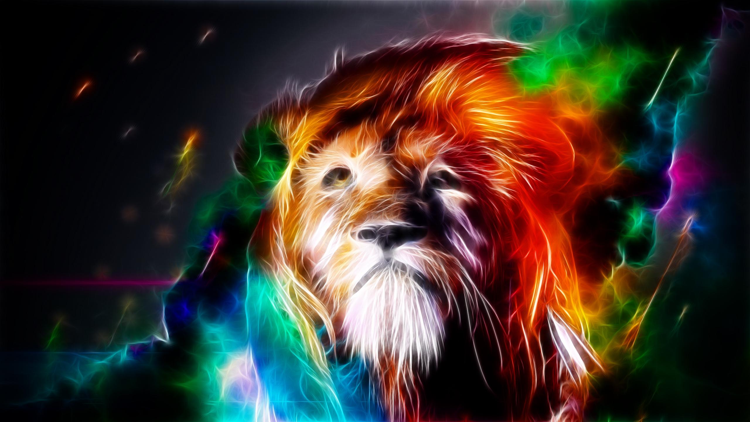 Trippy Lion Wallpaper