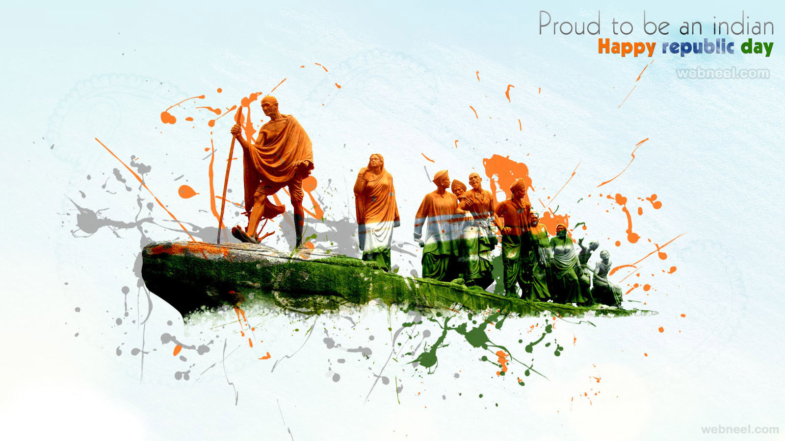 25 Beautiful Happy Republic Day Wishes and Wallpapers 1600x900
