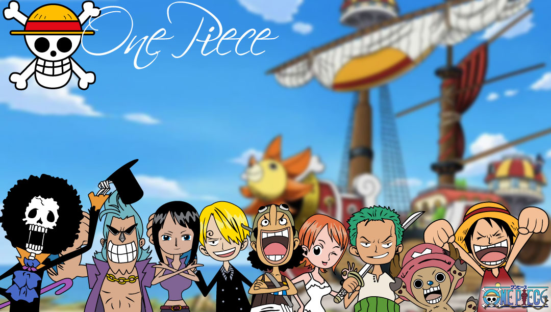 ONE PIECE CHIBI GROUP WALLPAPER 1080x612