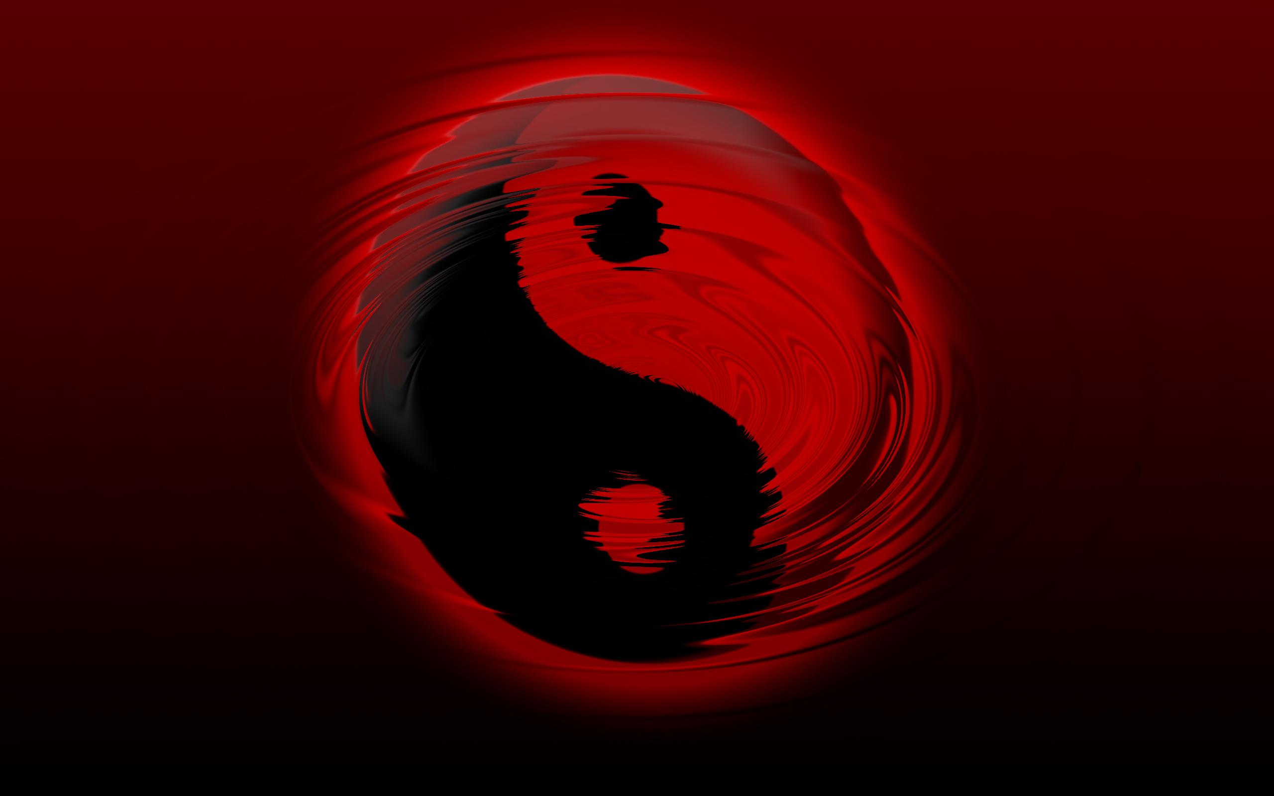 Wallpaper #100 Yin Yang Ripple | Red and Black Wallpapers