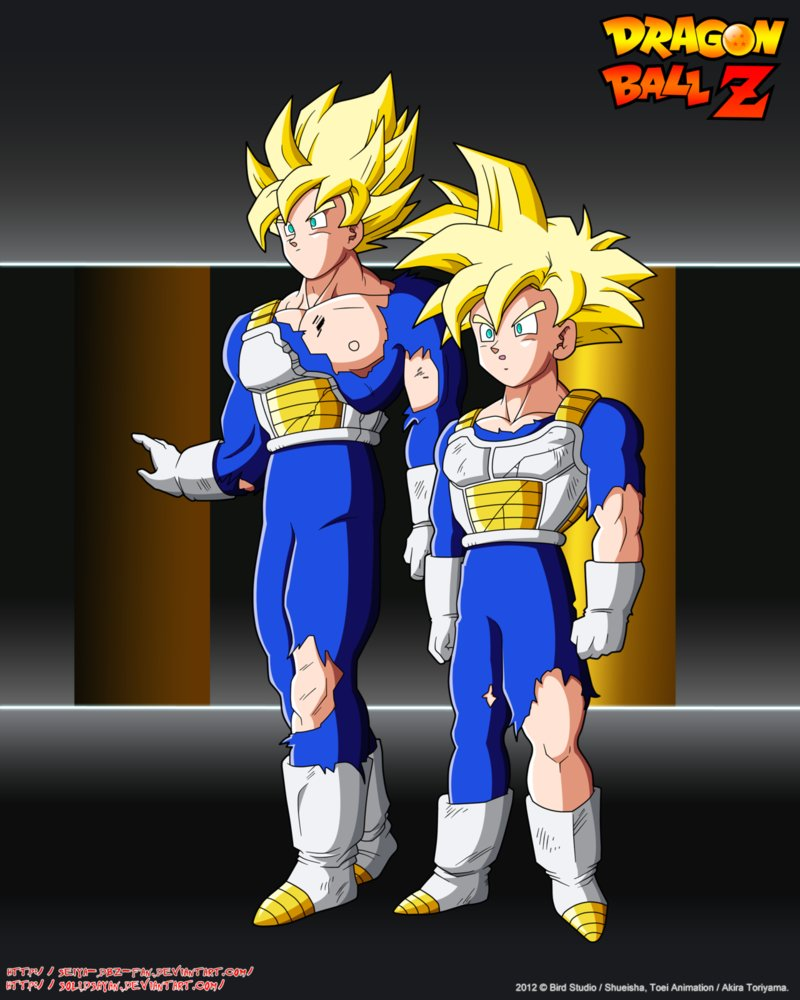 Goku and Gohan SSJ Damage SCTCH by Seiya Dbz Fan 800x1000
