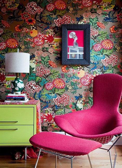 tags bedroom decoration floral motifs flowers green livingroom 470x646
