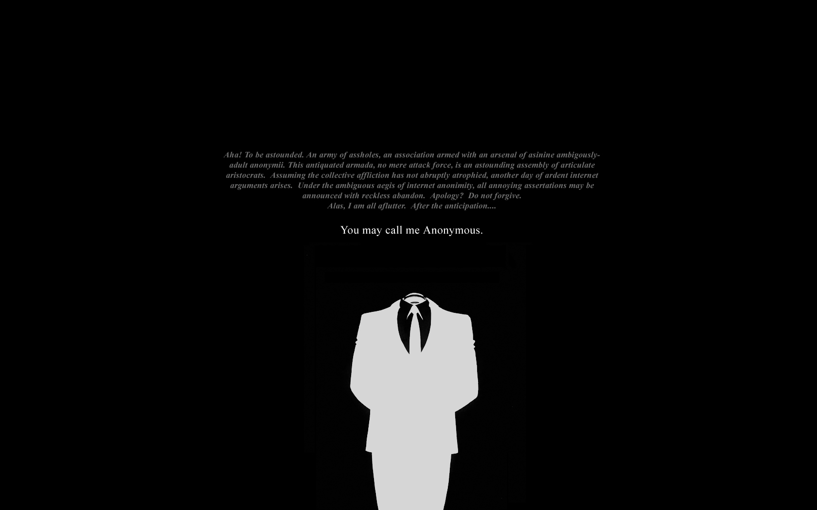 Cool Quote Anonymous Wallpaper 17197 Wallpaper High Resolution 1680x1050
