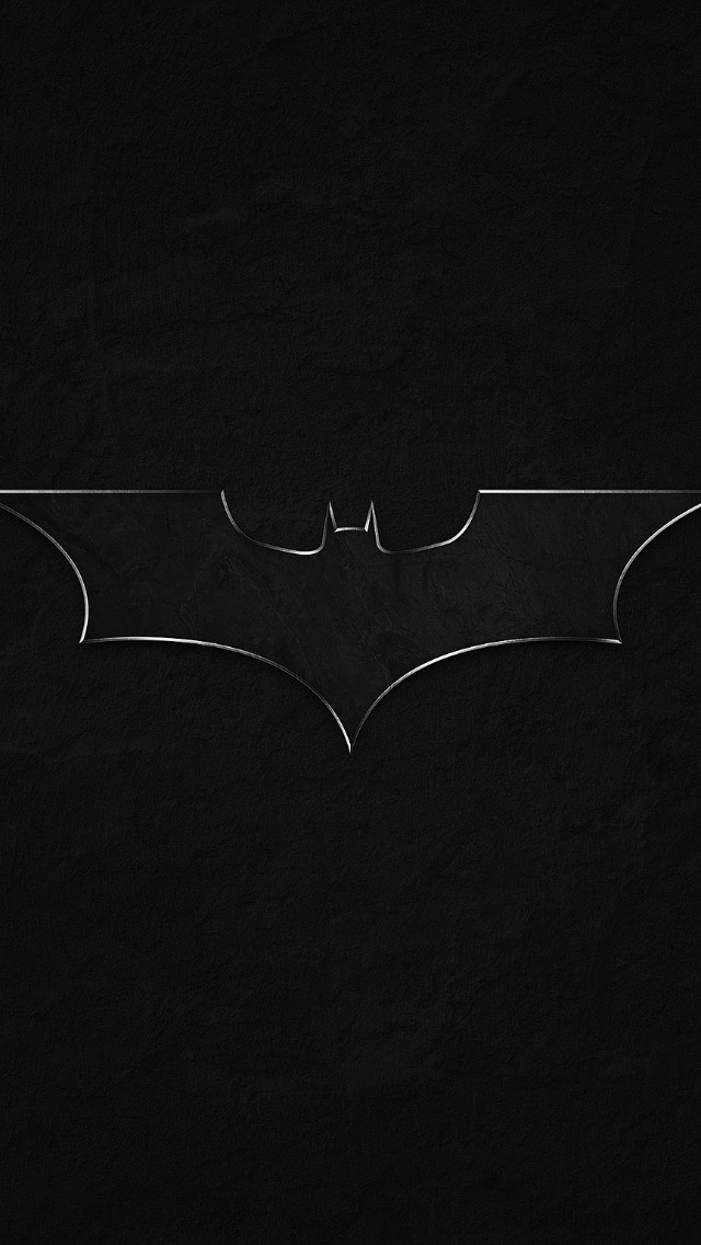 FREEIOS7 batman logo   parallax HD iPhone iPad wallpaper 640x1136