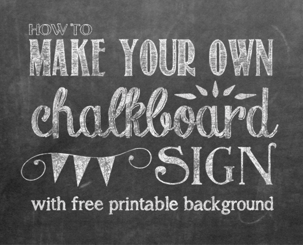 Making Your Own Chalkboard Sign Chalkboard Font Combos and a 600x485