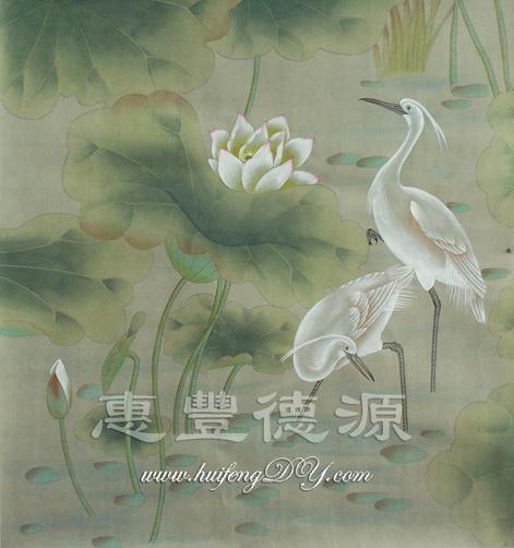 hand painted silk wallpaper China Trading Company   Wallpaper 471x502