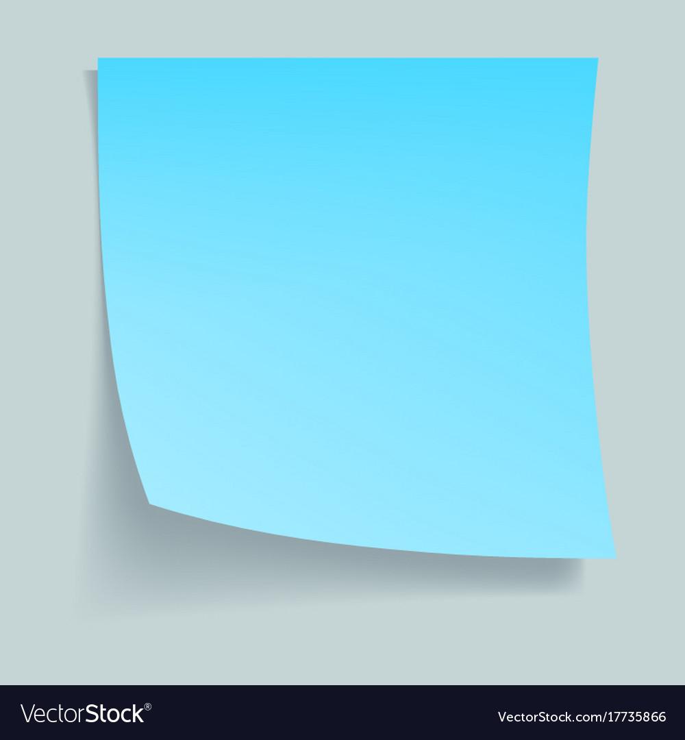 Blue memo stick concept background realistic Vector Image 1000x1080