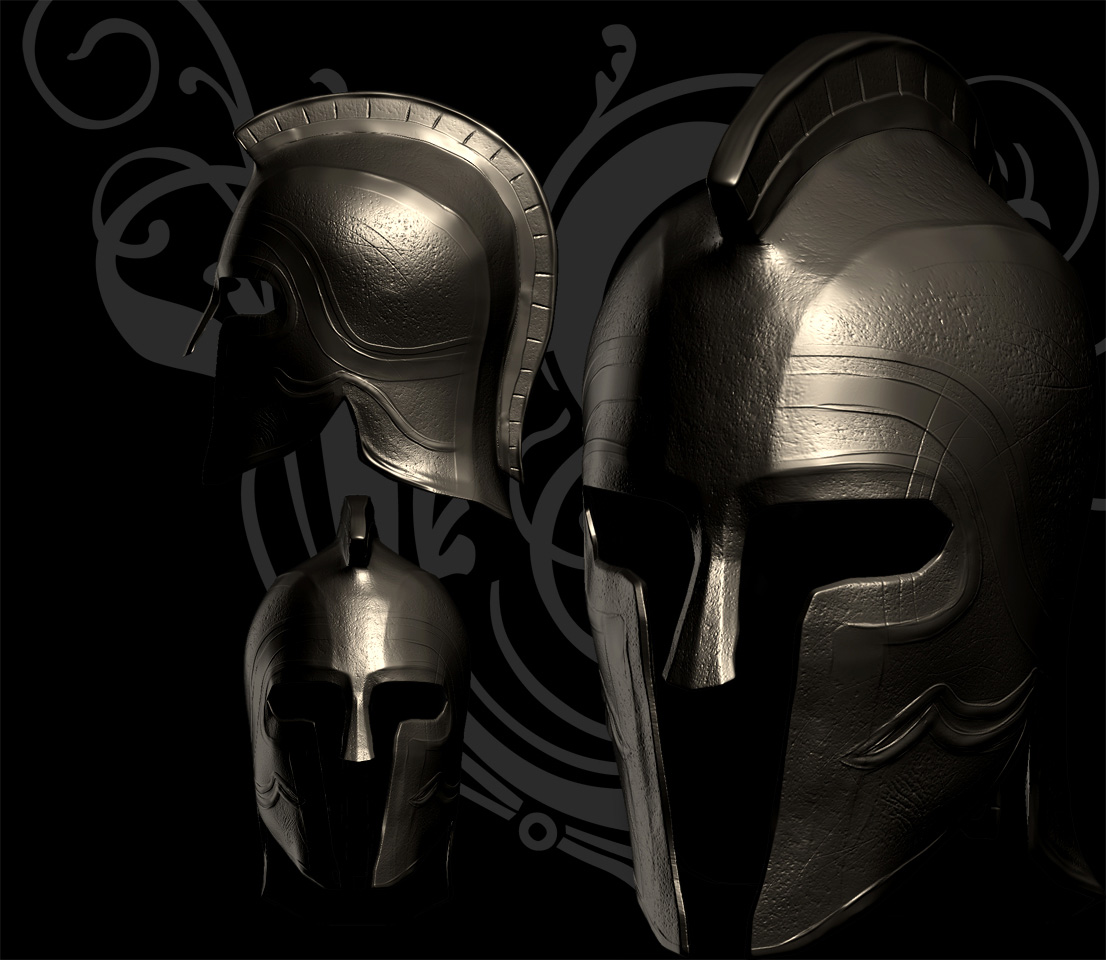 Spartan helmet WIP image   Sparta The Last Stand mod for Unreal 1106x960