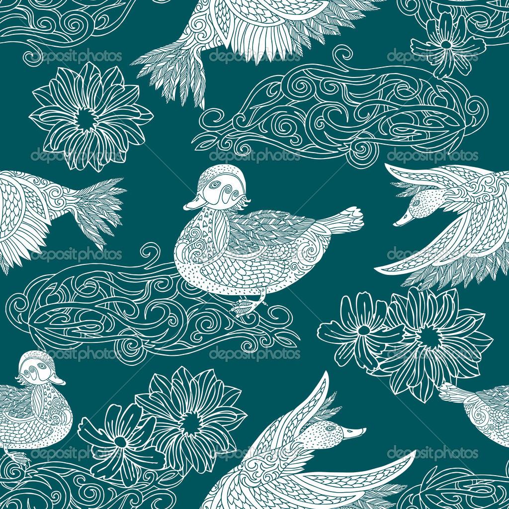 Pinterest Bird Fabric Wallpaper Patterns and Vintage Birds 1024x1024