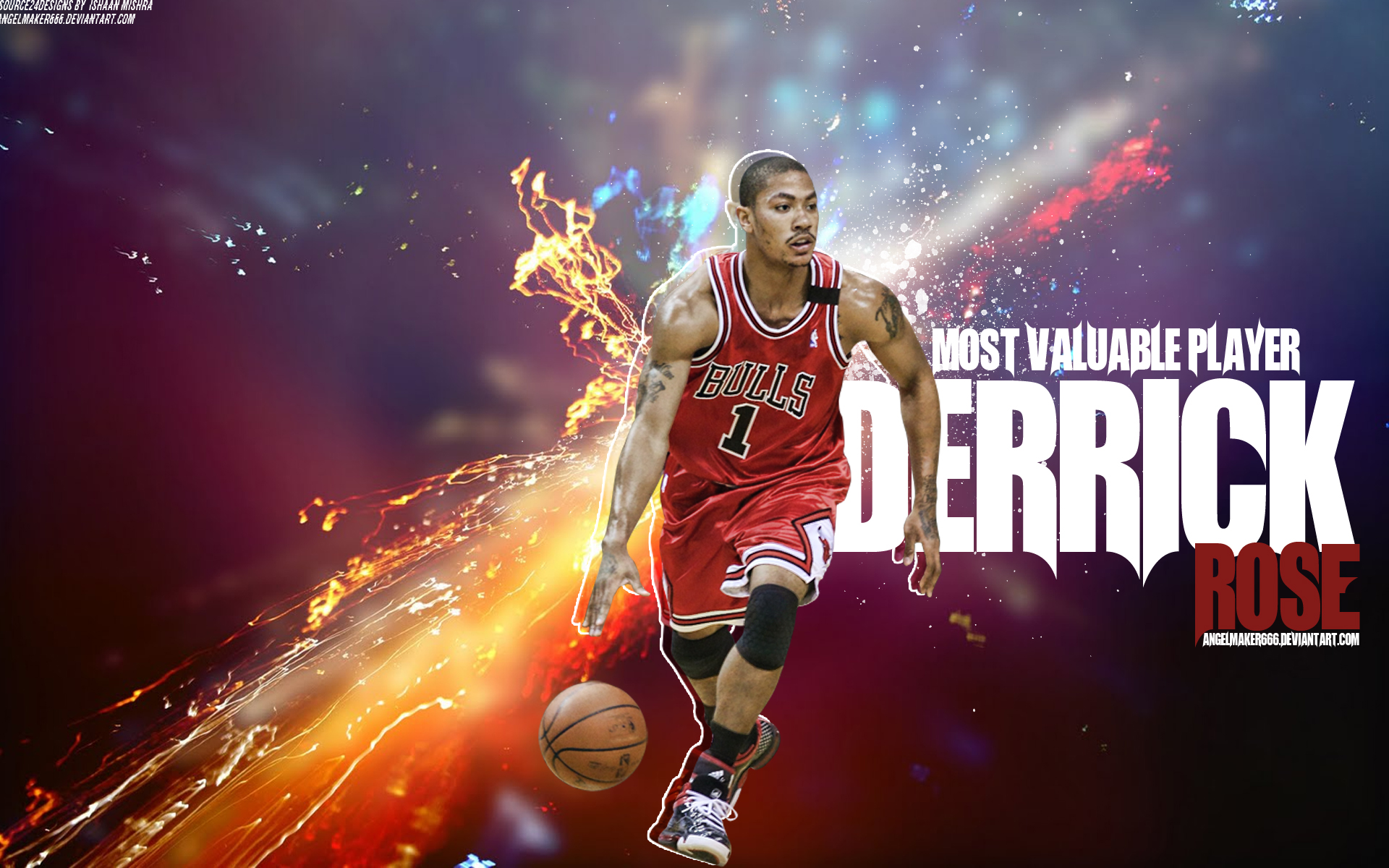 Derrick Rose Wallpaper 2014 Hd Derrick rose w 1920x1200