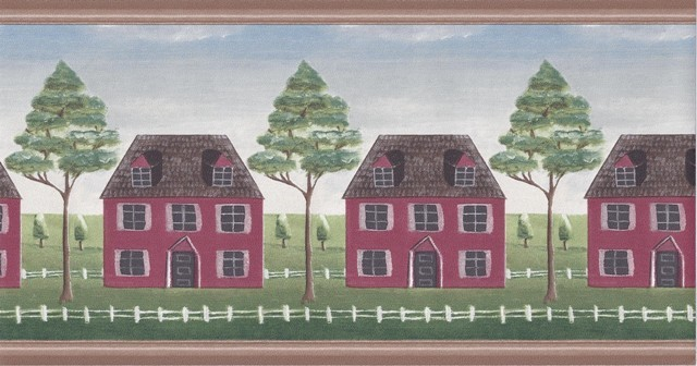Wooden Country House Wallpaper Border Roll   Wallpaper   by Designers 640x336