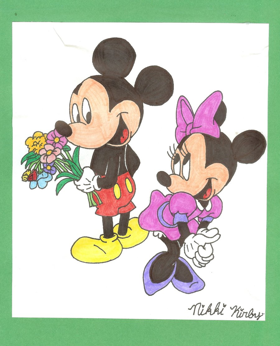 cute mickey and minnie drawing mickey and minnie mouse by pinikoli on 900x1113