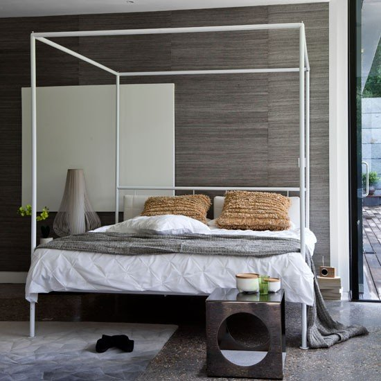 Grasscloth wall covering Modern bedrooms PHOTO GALLERY Homes 550x550