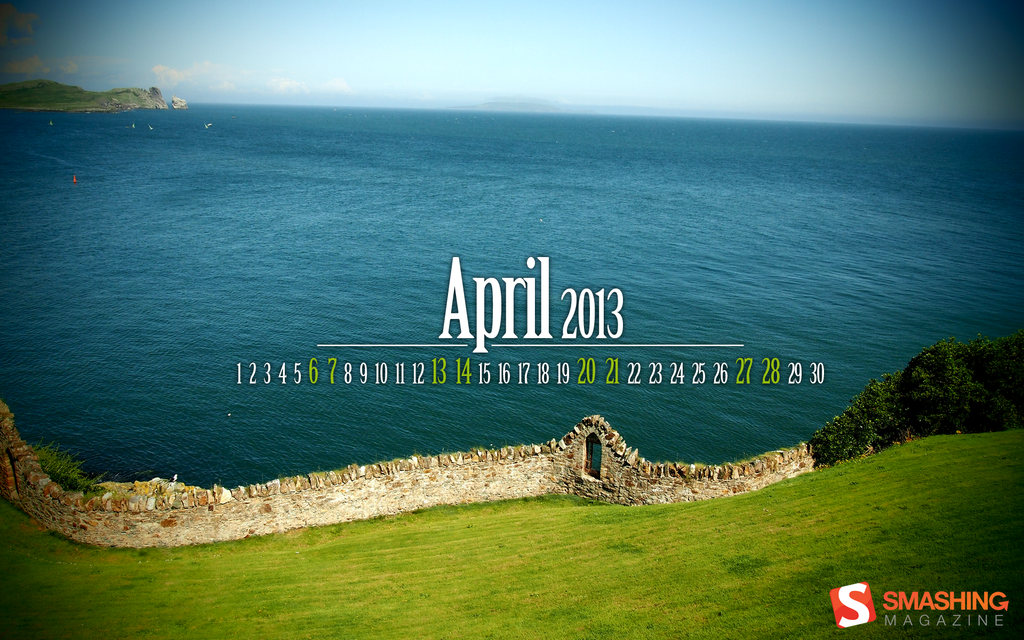 Desktop Wallpaper Calendar April 2013 by lalas 1024x640