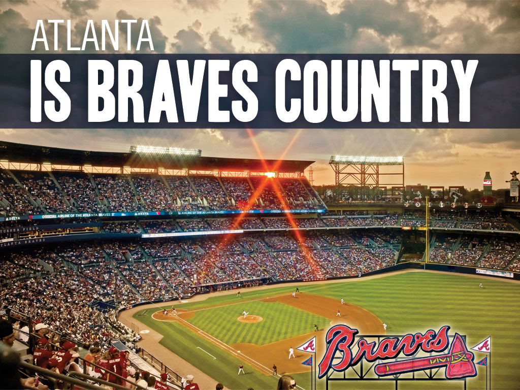Facebook and Twitter Covers Atlanta Braves 1024x768
