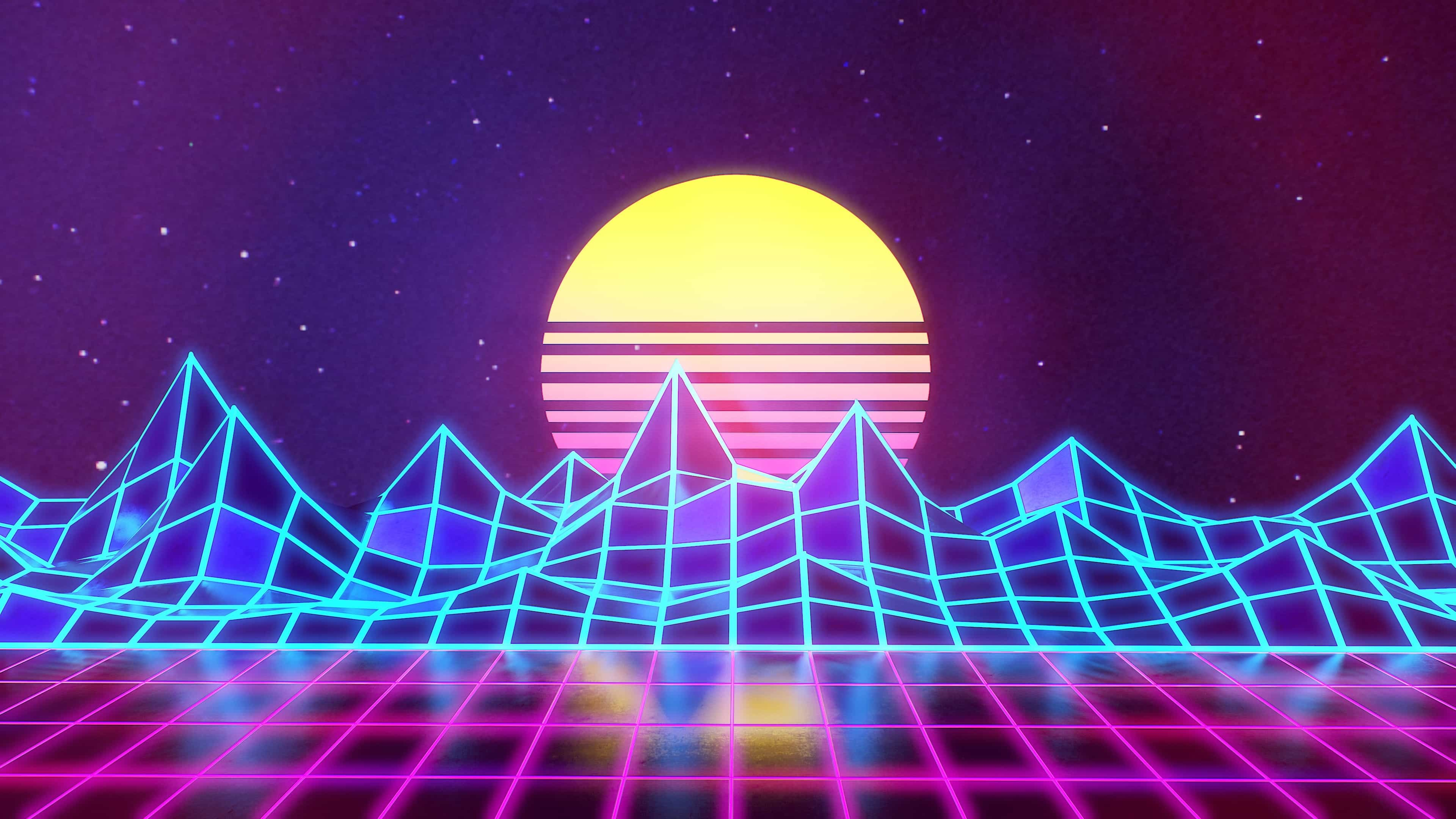 77 Neon 80S Wallpapers on WallpaperPlay 3840x2160
