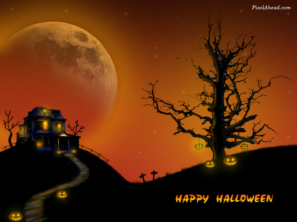 Games Wallpapers Happy Halloween Wallpapers 1024x768