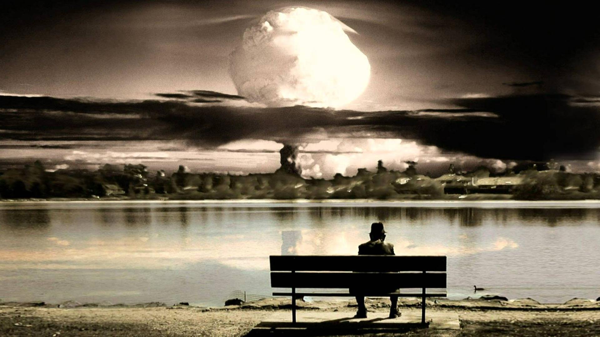 Man Waiting For Bomb Blast HD Wallpaper 1920x1080 ID58479 1920x1080