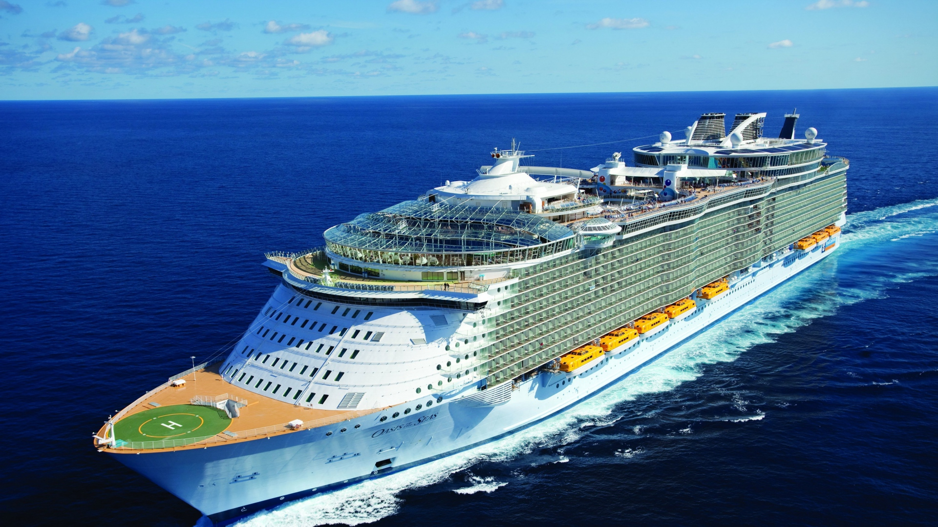 Download 1920x1080 Oasis of the seas Swirl Cruise ship Wallpaper 1920x1080