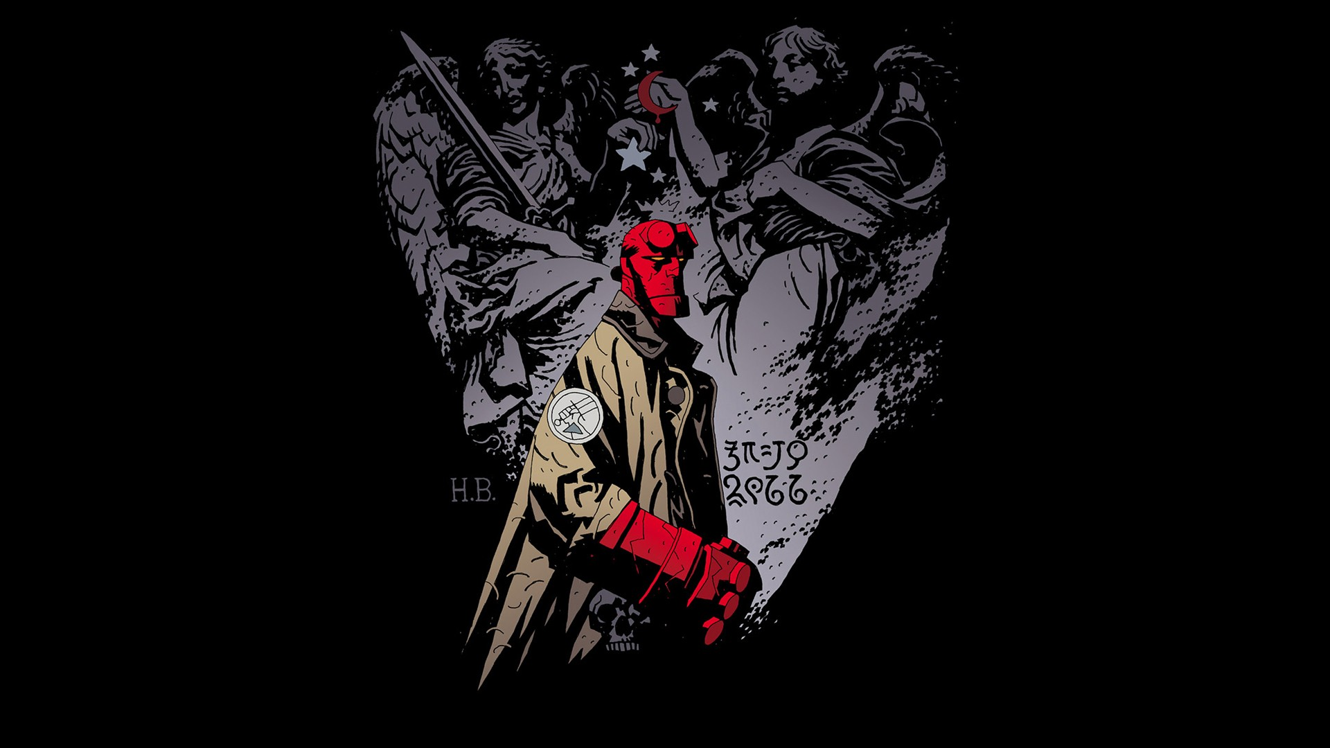 Comics Hellboy wallpaper 1920x1080 222240 WallpaperUP 1920x1080