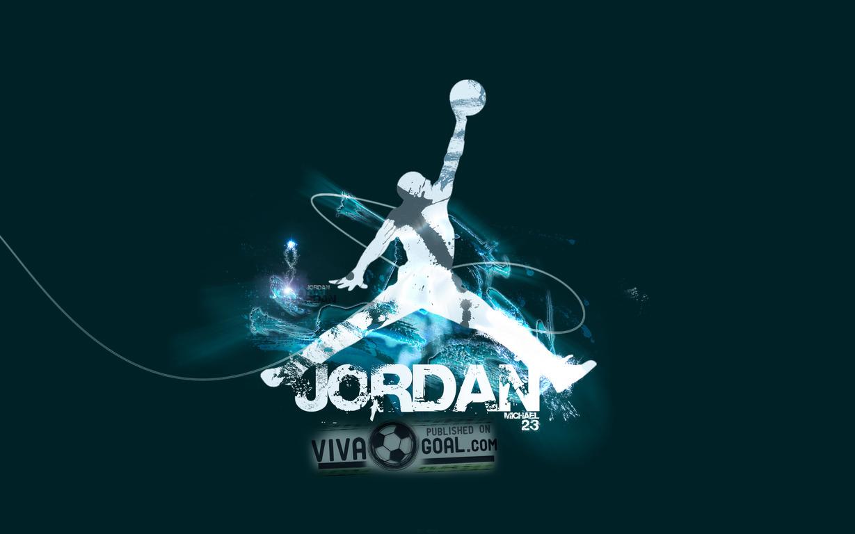 Download Air Jordan logo wallpaper 1229x768