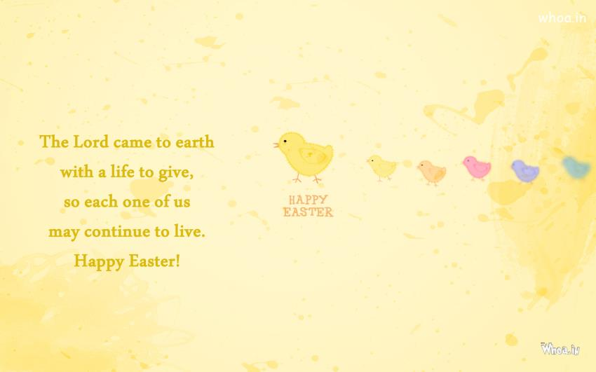 Easter WallpapersEaster Greetings in Yellow Background And Quote 850x531