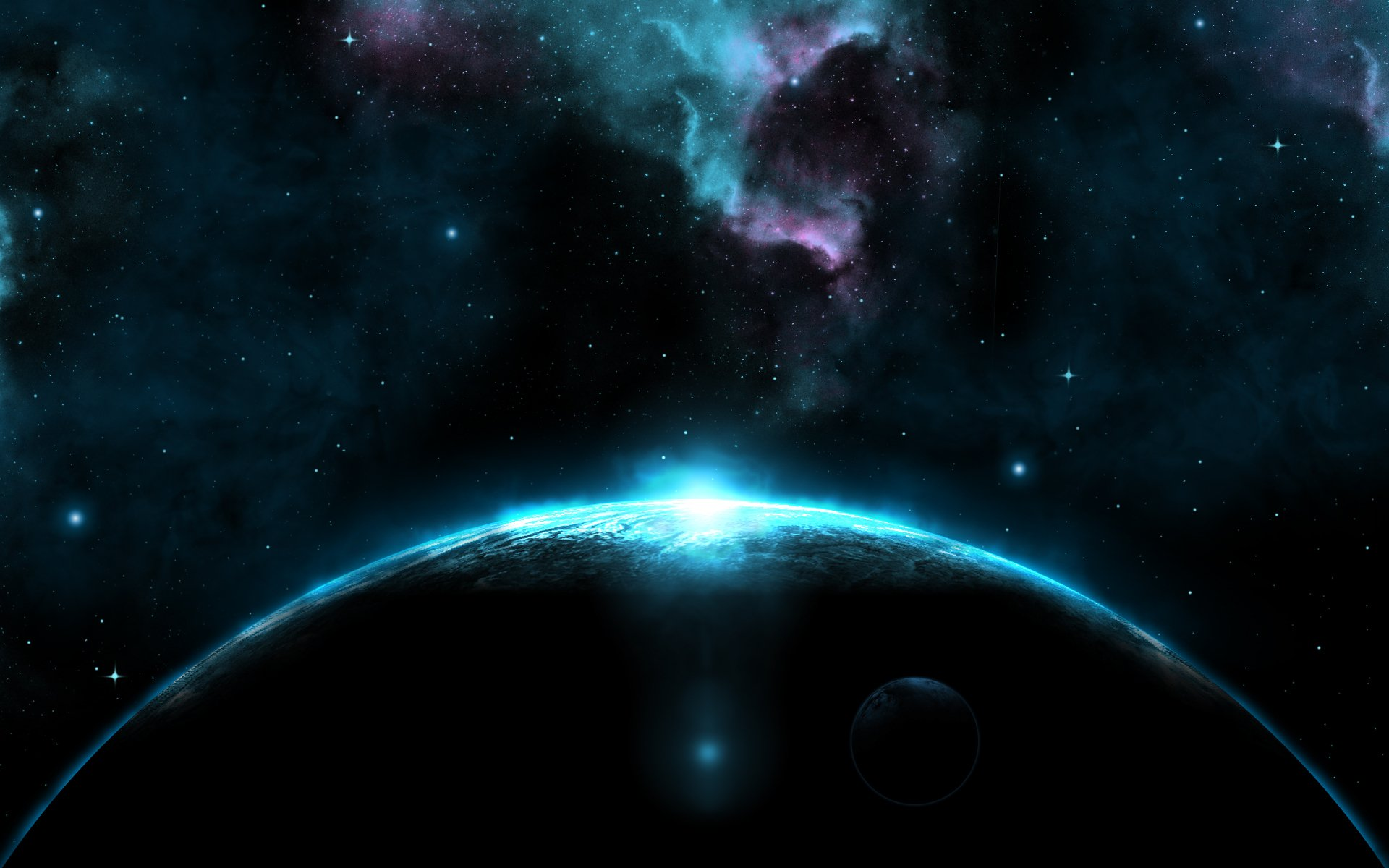 Giant Dark Blue Planet HD Wallpapers 1920x1200