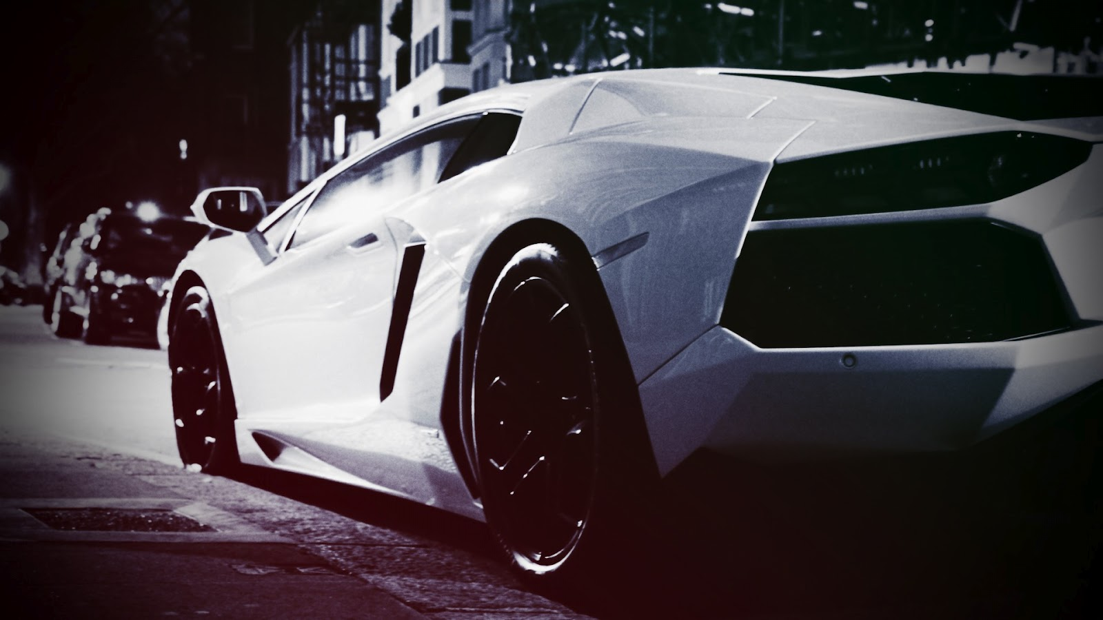 Lamborghini Aventador Car Old Looking Photo HD Wallpaper 1600x900