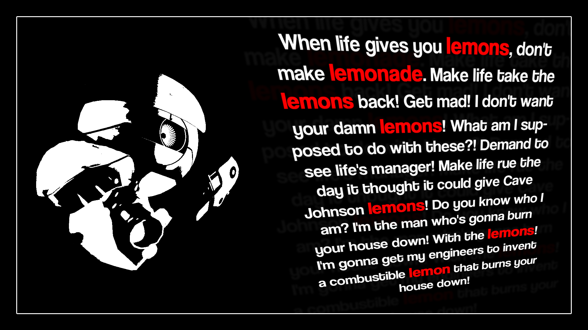 Portal 2 Wallpaper 1920x1080 Portal 2 Cave Johnson Lemons 1920x1080