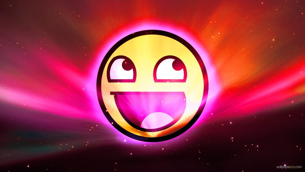 Download Awesome Smiley In Space HD Wallpaper Wallpaper 1280x720