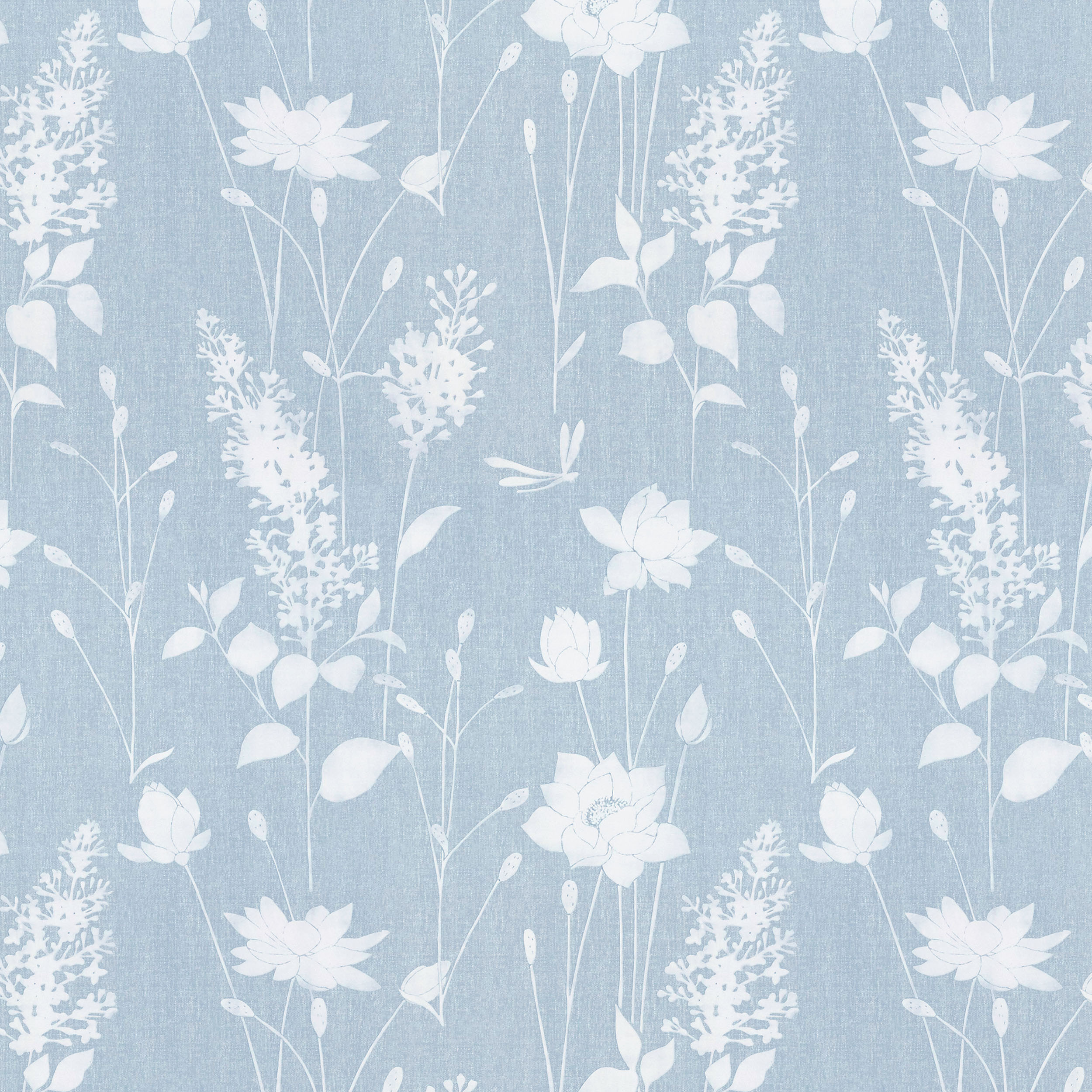 Dragonfly Garden Chalk Blue Wallpaper 2500x2500