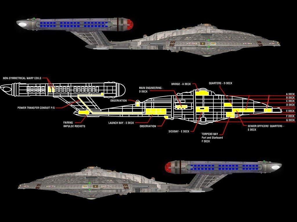 Star Trek Enterprise NX 01 starship schematics 1024x768