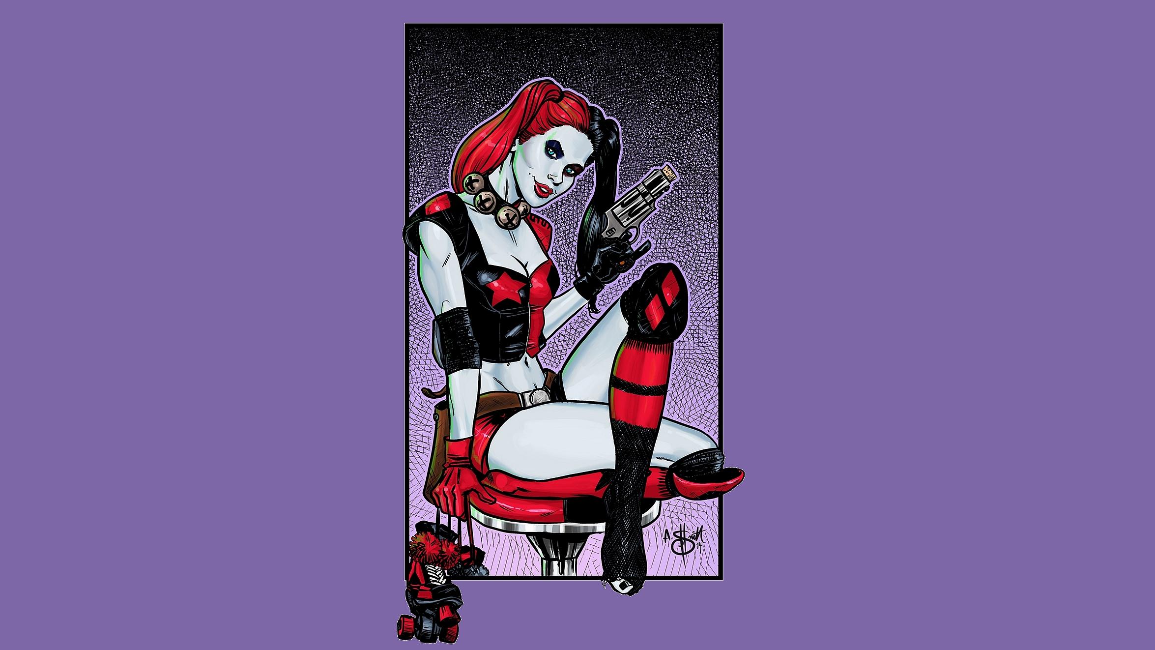 Harley Quinn Computer Wallpapers Desktop Backgrounds 2350x1322 ID 2350x1322