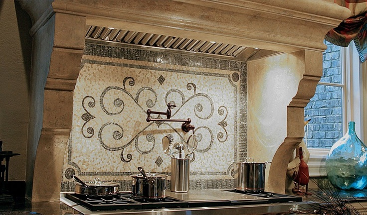 Backsplash Tile Fabric Wallpaper Pinterest 736x432