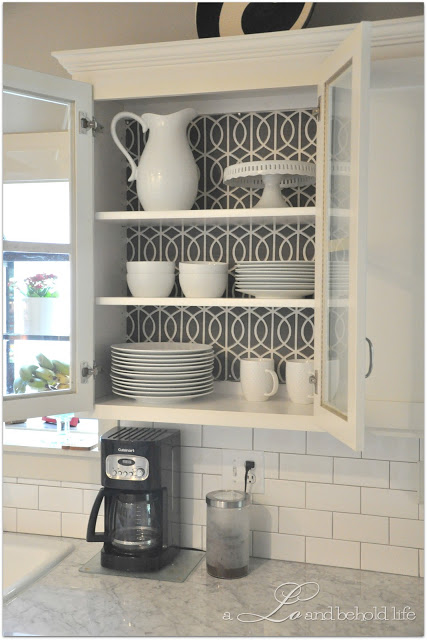 Kitchen Cabinet Wallpaper Cute for cabinets with glass doors Ikea 427x640