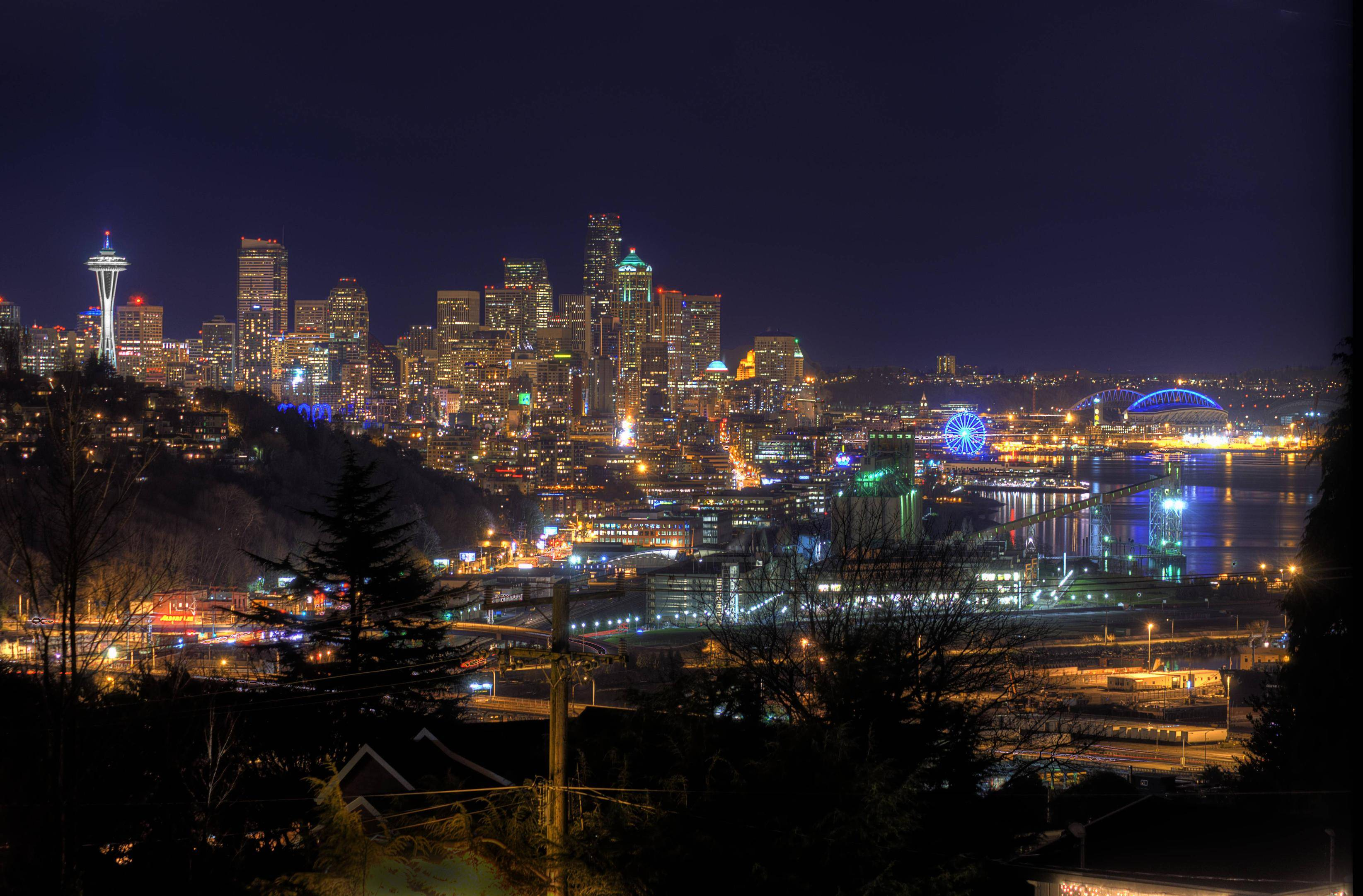 Seattle At Night pics 3289x2163