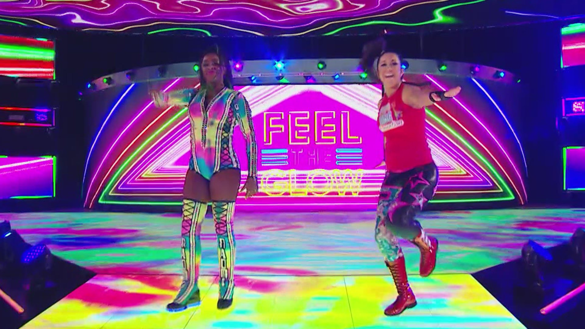 Bayley Naomi def WWE Womens Tag Team Champions The IIconics 1920x1080