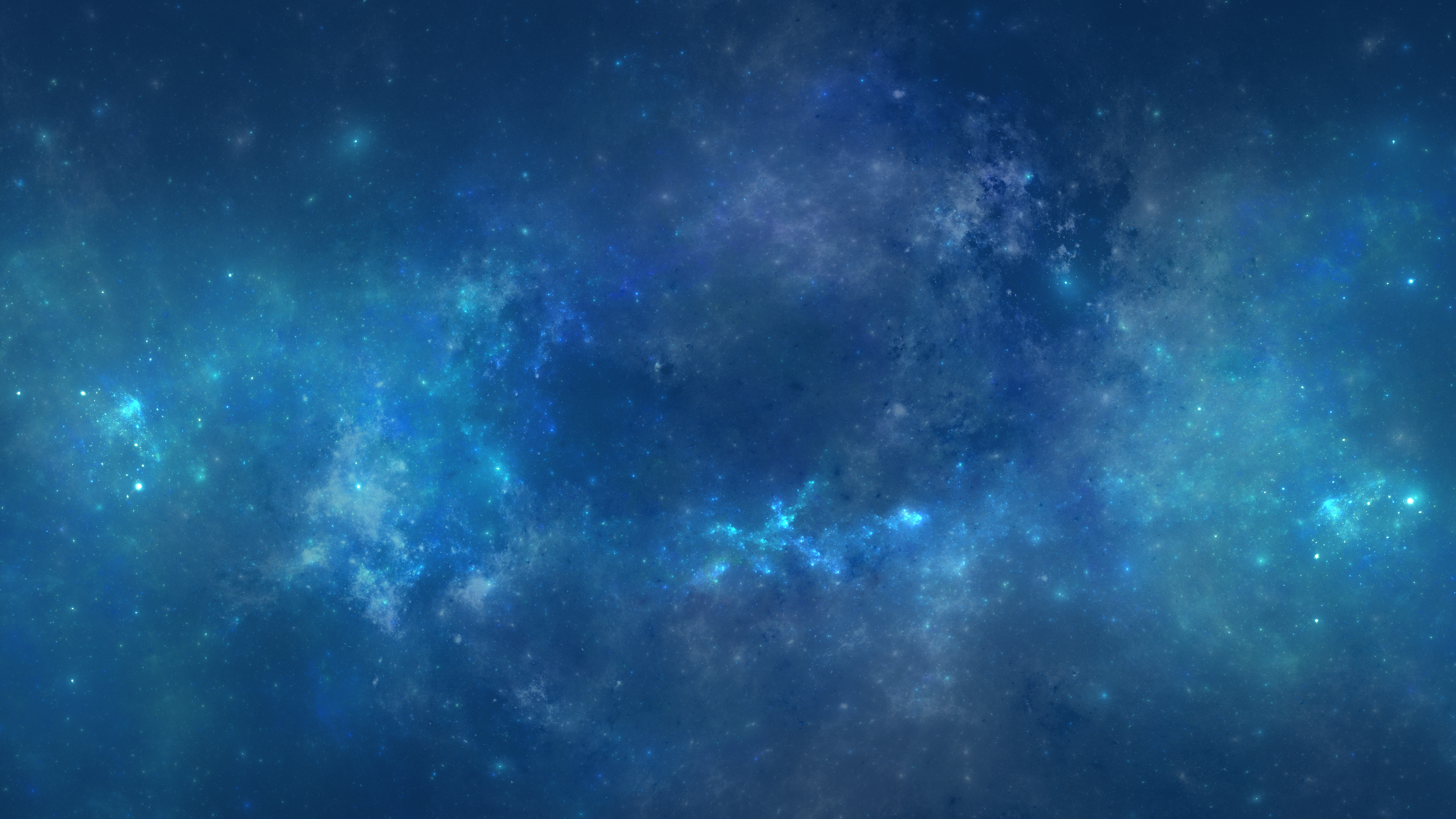 Wallpapers Blue Drawings and Paintings Space Nebulae Stars 4K 3840x2160