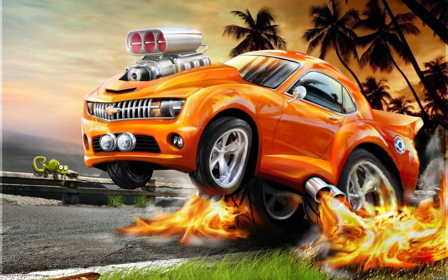 Orange Car With Nos Hd Wallpaper Cars wallpapers hd Photo Shared 1440x900