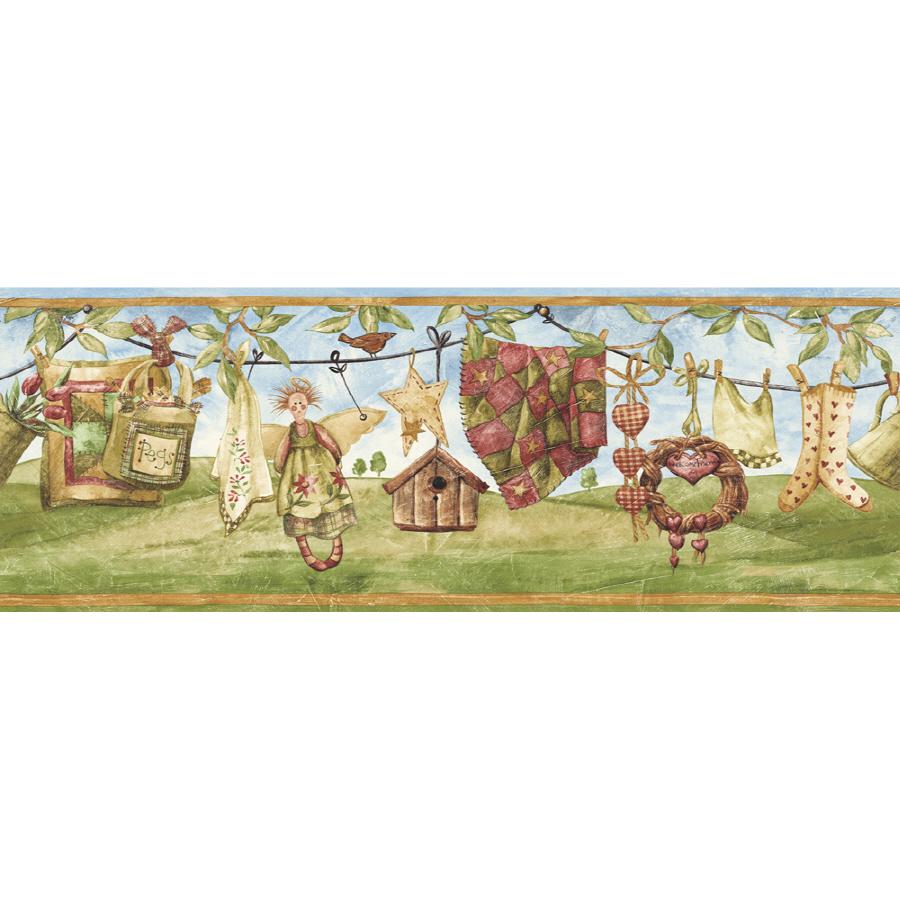 Sunworthy 6 78 Clothesline Prepasted Wallpaper Border at Lowescom 900x900