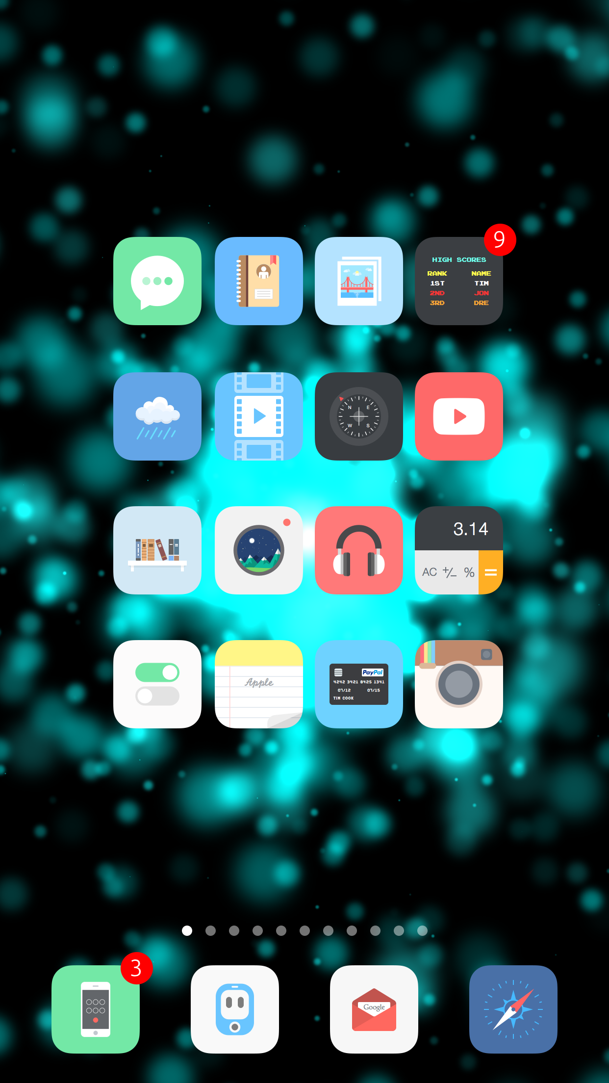 Add new Dynamic Wallpapers to your iPhone with Particle Wallpapers 1242x2208