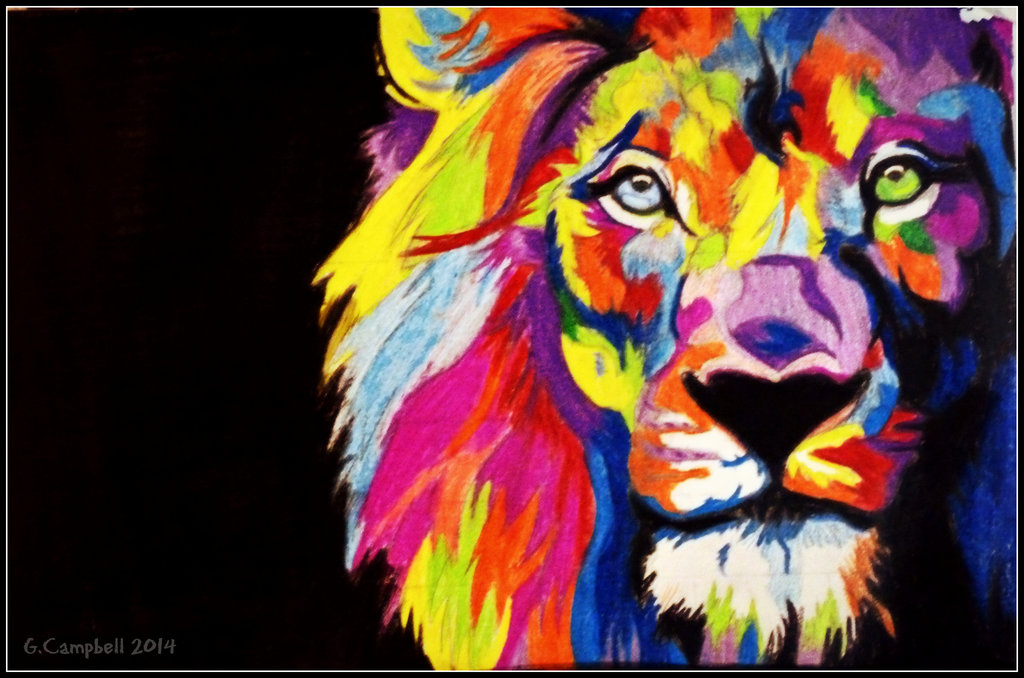 Pictures Of Colorful Lion Wallpaper Rock Cafe