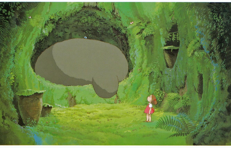 Wallpaper forest paw my neighbor Totoro art Hayao Miyazaki 1332x850