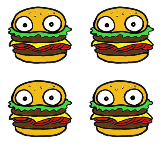 cartoon hamburger wallpaper - photo #3